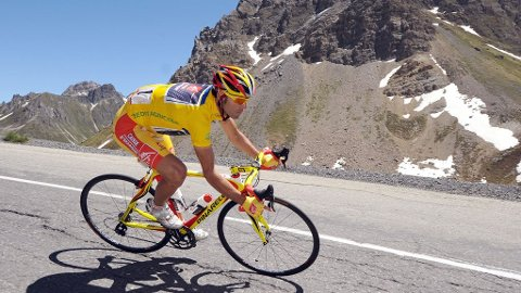 Alejandro Valverde. 13 Juni 2009. 7. etappe av Criterium of Dauphine Libere-løpet.