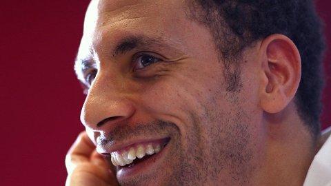 SPANDABEL TYPE: Rio Ferdinand ser ikke ut til å bekymre seg over bryllupsregningen på 5 millioner pund...