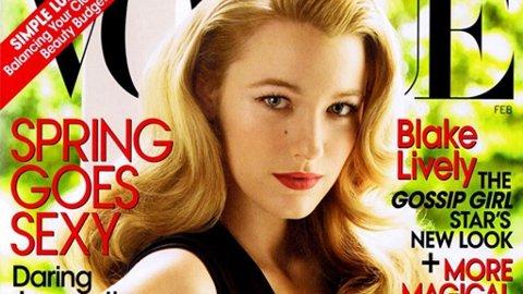 USKYLDIG: Blake Livelys uskyldige posering på Vogues forside har ført til opphetet stemning i motebransjen.