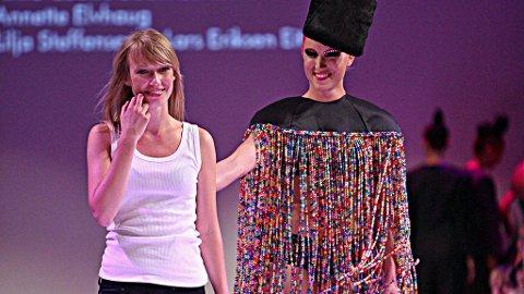 DEBUTANT: Linn Renée Blegeberg debuterte på Oslo Fashion Week med kolleksjonen «Kræsj Pink».