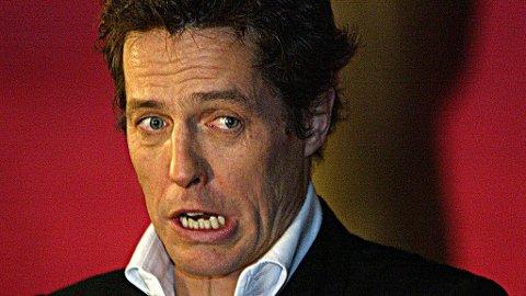 PANIKK: Han synes det går greit med prøvene, men når filmen begynner å rulle får Hugh Grant (48) panikkangst. Han har sagt at han har et miserabelt yrke.
