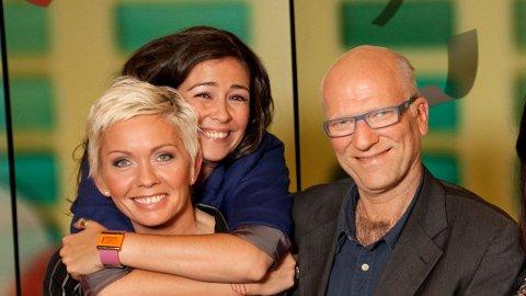 Renate Barsgård stiller i Studio 5 sammen med Ingar Helge Gimle, som skal spille Sven O. Høiby i den nye filmen. Mina er en av programlederne.