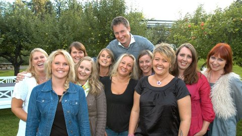Kristian Akervold med sine utvalgte friere.