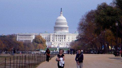 REGJERNINGSSETE: Et besøk til US Capitol er ikke til å unngå når du besøker Washington DC.