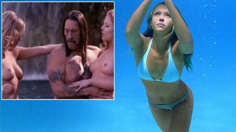 I SITT RETTE ELEMENT? Jessica Alba i en nøkkelscene fra «Into the Blue»