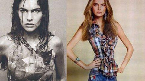 FØR OG ETTER: Fransk-svenske Filippa Hamilton har unektelig blitt gjort slankere i Ralph Laurens nye kampanje (til høyre).