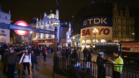 Piccadilly cirkus, London