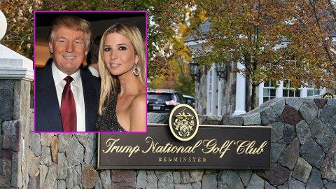 GIFTET SEG HER: Donald Trump ga bort sin datter under en storslått seremoni på hans golfklubb i New Jersey i helgen.