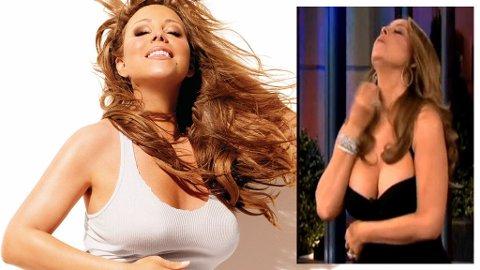 FEIL MED SKOENE?! Mariahs kjole sitter løst «grunnet skofeil» .