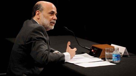 Ben bernanke sentralbanksjef i USA.