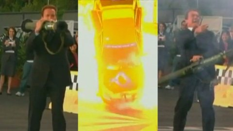 """Arnold Schwarzenegger utfordrer Jay Leno i """"Green Car Challenge"""