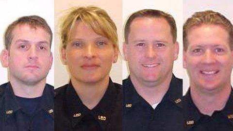 De fire politifolkene Mark Renniger, Tina Griswold, Greg Richards og Ron Owen ble drept i et bakholdsangrep på Forza Coffe i Lakewood - en forstad sør for Seattle i delstaten Washington.