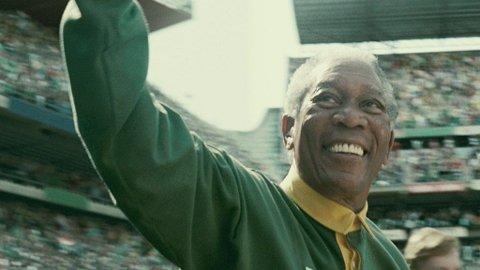MORGAN FREEMAN som president Nelson Mandela i Clint Eastwoods «Invictus».