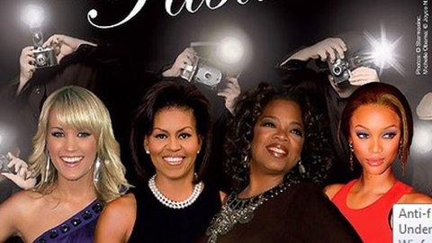 REKLAMEN: De profilerte damene er brukt i reklamen for PETA, men Michelle Obama ble ikke spurt, og hadde ikke sagt ja.