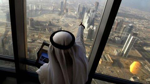 Burj Dubai, utsikt fra observasjonstårnet