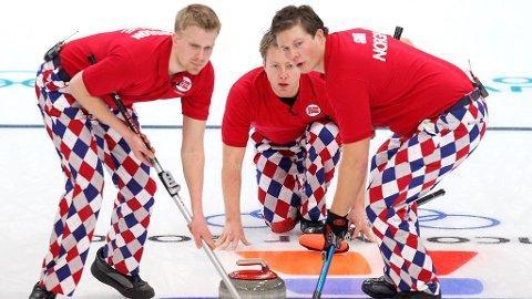 KLOVNER: Curlig-gutta tok verden med storm da de brukte «klovnebukser» under OL i Vancouver.