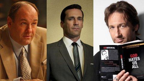 Tony Soprano, Don Draper og Hank Moody er ikke Guds beste barn, men vi elsker dem (tidvis) for det.