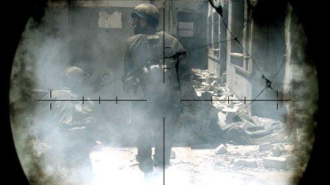 HELE FILMEN «LIBANON» er sett gjennom et skyttersikte slik at publikum får følelsen av å sitte i en tanks.
