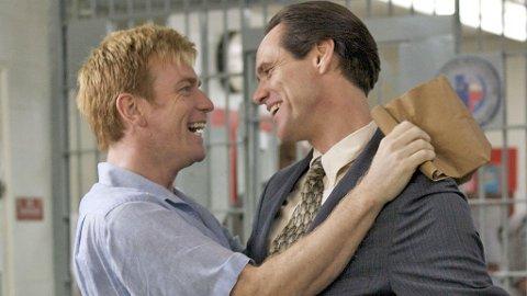 PAR: Ewan McGregor og Jim Carrey som Phillip Morris og Steven Russell i «I Love You, Phillip Morris».