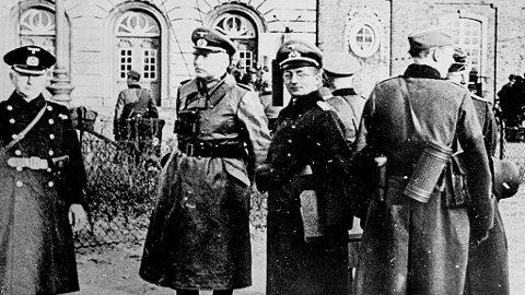 Tysk oppkupasjon, tyske offiserer, 9. april 1940, København, Danmark.