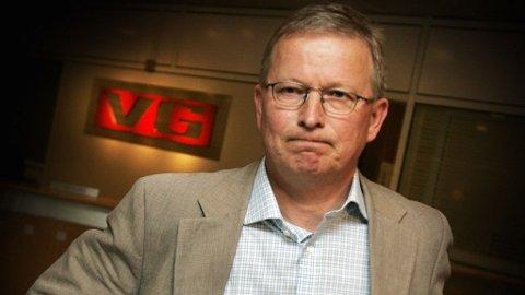 Ansvarlig redaktør Bernt Olufsen i Verdens Gang. VG Schibsted