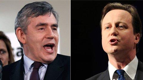 Gordon Brown David Cameron
