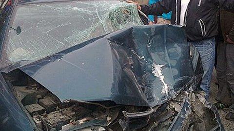 TRAFIKKULYKKE: Ulykken skjedde midt i gågata i Storgata i Tromsø litt før klokken 14 onsdag.