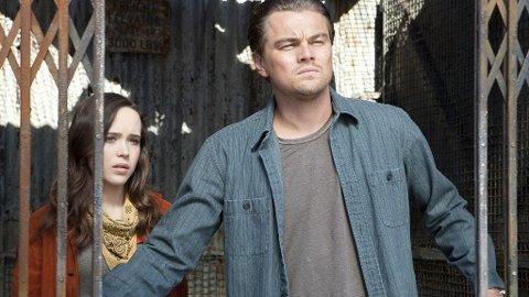 ELLEN PAGE og hennes sjef Leonardo DiCaprio i «Inception».