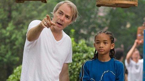 Harald Zwart og Jaden Smith under innspillingen av «Karate Kid».