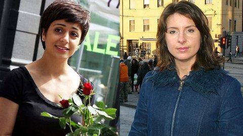 Arbeiderpartiets Hadia Tajik og Jenny Klinge fra Senterpartiet
