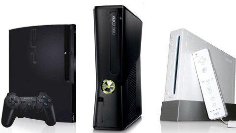 Det finnes tre spillkonsoller å velge mellom i dag ¿Xbox, Wii og Playstation.