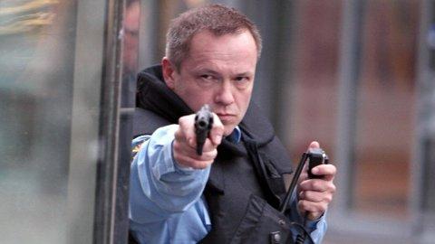 MORTEN HÅLAND er tvillingbror til den virkelige politimannen Erik Håland. Han forteller at scenen på Domkirkeplassen var svært bevegende for ham.