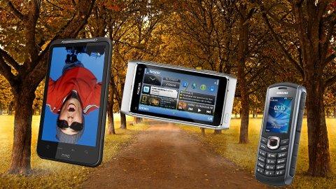 F.v: HTC Desire HD og Nokia N8