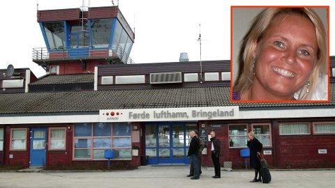 Kristin Holstad kom ikke gjennom sikkerhetskontrollen, og fikk beskjed om å ta av seg blusen, ved Førde Lufthavn Bringeland.