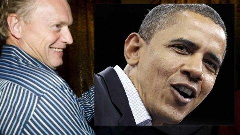 Raymond Johansen og Barack Obama
