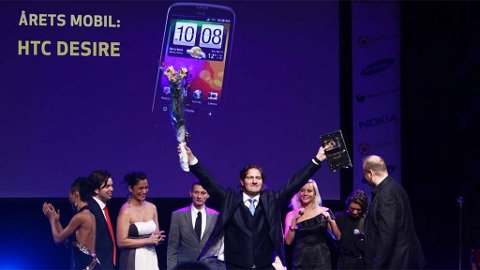 Sjef for HTC Norge, Pål Marius Christiansen, er meget fornøyd med at HTC Desire ble kåret til årets mobil av folket.