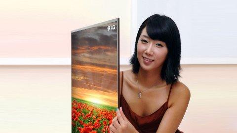 LGs nye flatskjerm LEX8 er kun 8,8 millimeter tykk, og legger listen for fremtidens flatskjermer.
