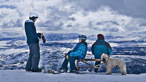 Toppstasjonen på Åreskutan ligger 1274 meter over havet, med utsikt deretter.