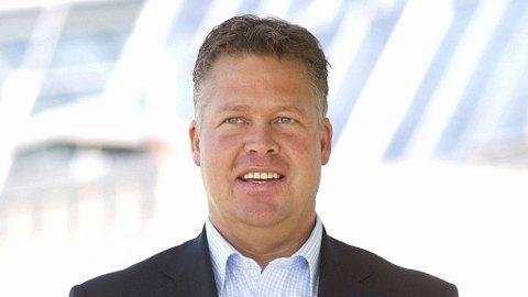 Helge Leiro Baastad, administrerende direktør i Gjensidige, har all grunn til å smile.