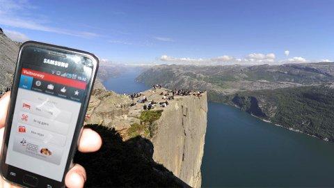 Finn frem til Norges største severdigheter med mobil-appen fra Visit Norway.