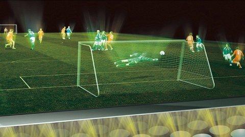 Snart kan hele verden se den samme fotballkampen spilles foran seg.