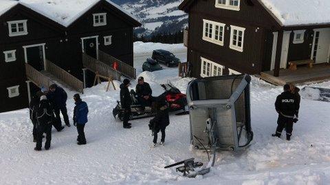En gondolvogn falt ned i Hafjell Alpinanlegg mandag.