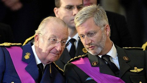 Kong Albert og kronprins Philippe.