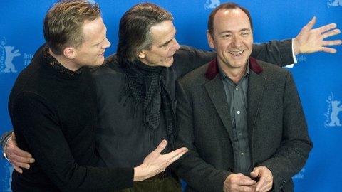 SUPERLAGET: Paul Bettany og Jeremy Irons med Kevin Spacey kommer i en ny rivende finansthriller «Margin Call».