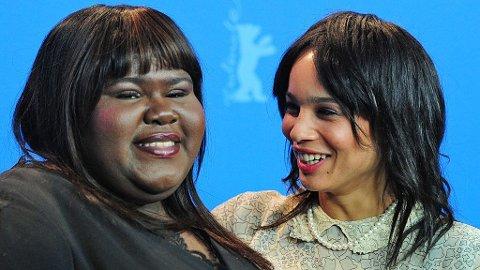 VENNINNER: Gabourey Sidibe ble gode venner med Zoë Kravitz under innspillingen av Yelling to the Sky. Sidibe spilte mot Zoës far i filmen Precious.
