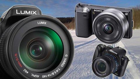 Hybridkameraer er egentlig speilreflekskameraer uten speil. De er derfor små, men avanserte.