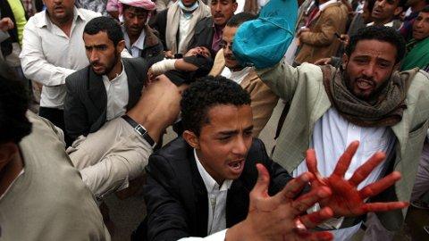 Folket i Yemen protesterer i skyggen av Gaddafi og naturkatastrofen i Japan.