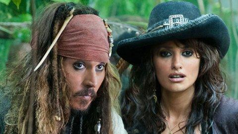 Storsjarmøren Johnny Depp får ikke oppleve seg selv i tredimensjonalt samspill med Penelope Cruz i Pirates of the Caribbean: On Stranger Tides 3D.