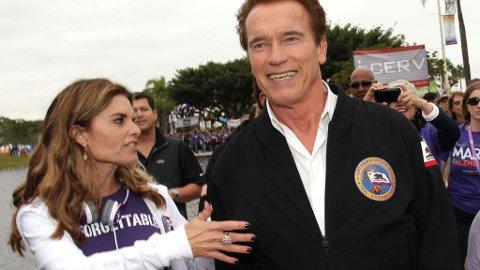 MARIA SHRIVER og Arnold Schwarzenegger har gått hver til sitt.