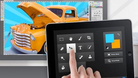 iPad kan brukes til stadig mer, nå også til å styre bildebehandlingprogrammet Photoshop.